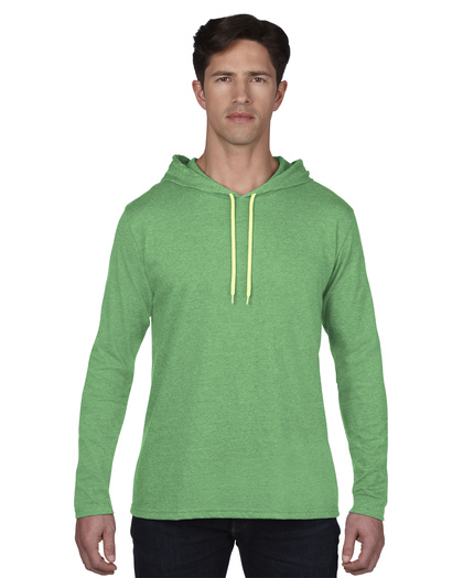 Anvil 987 heather green/neon yellow